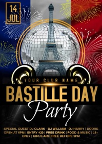 Bastille day video A4 template