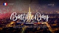 Bastille Day Video Thumbnail Template Miniatura do YouTube