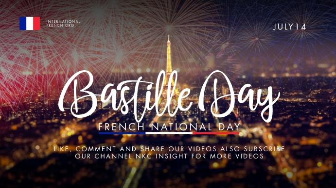 Bastille Day Video Thumbnail Template YouTube-thumbnail