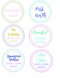 bathbomb labels