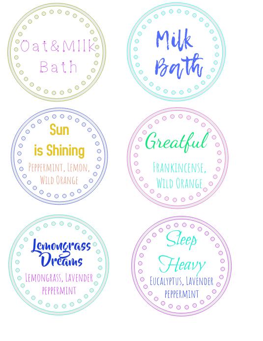bathbomb labels