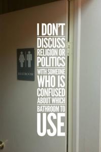 Bathroom Confusion - At the Door