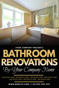 Bathroom Renovations Poster