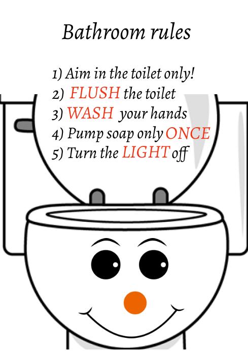 Bathroom signs A4 template