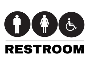 Bathroom Signs Template