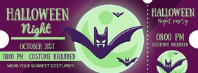 Bats Halloween Party Ticket