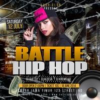 Battle Hip Hop Party Flyer Instagram 帖子 template