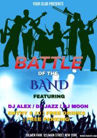 BATTLE OF BAND A4 template