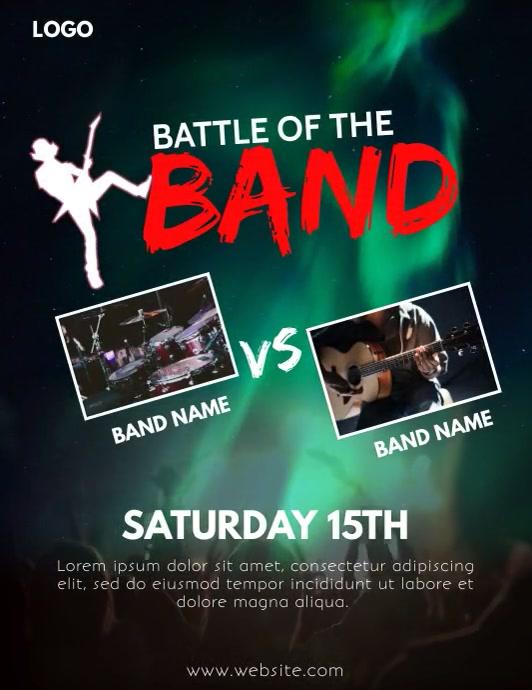 Battle of the band flyer Folder (US Letter) template