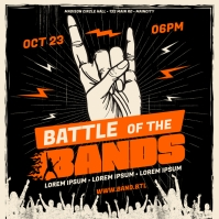BATTLE OF THE BANDS BANNER Carré (1:1) template