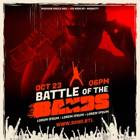 BATTLE OF THE BANDS BANNER Post Instagram template