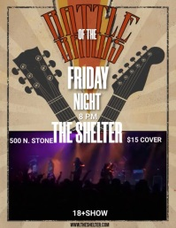 BATTLE OF THE BANDS Flyer (format US Letter) template