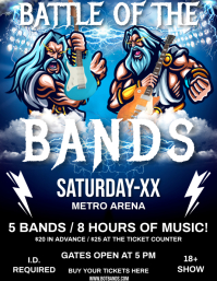 BATTLE OF THE BANDS Flyer (US Letter) template