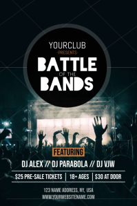 Battle of the Bands Poster template