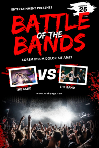 battle of the bands Flyer Template Poster