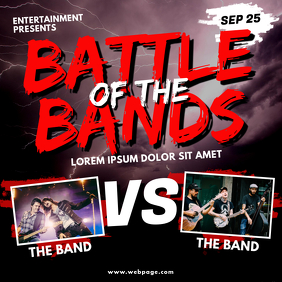 battle of the bands Instagram post template
