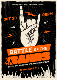 BATTLE OF THE BANDS POSTER A4 template