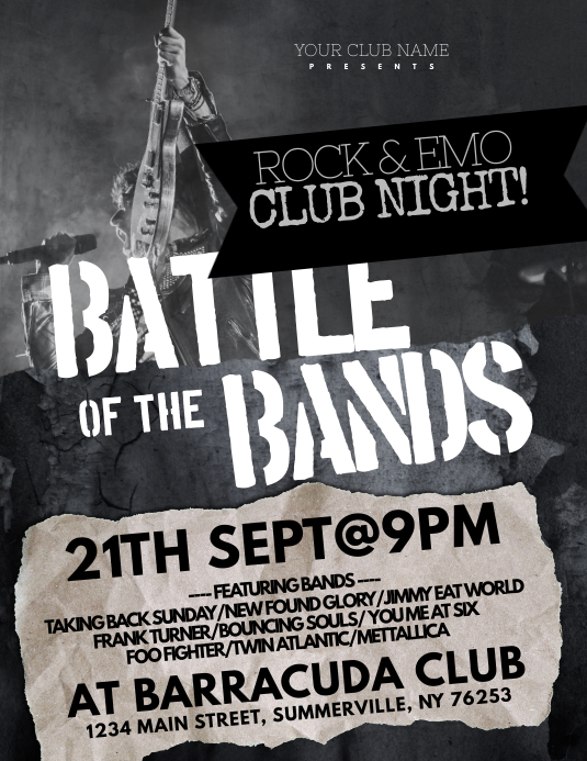 Battle Of The Bands Flyer Template PosterMyWall
