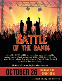 Battle of the bands video Flyer (US Letter) template