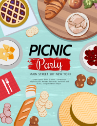 BBQ, barbeque,restaurant,picnic Flyer (Letter pang-US) template