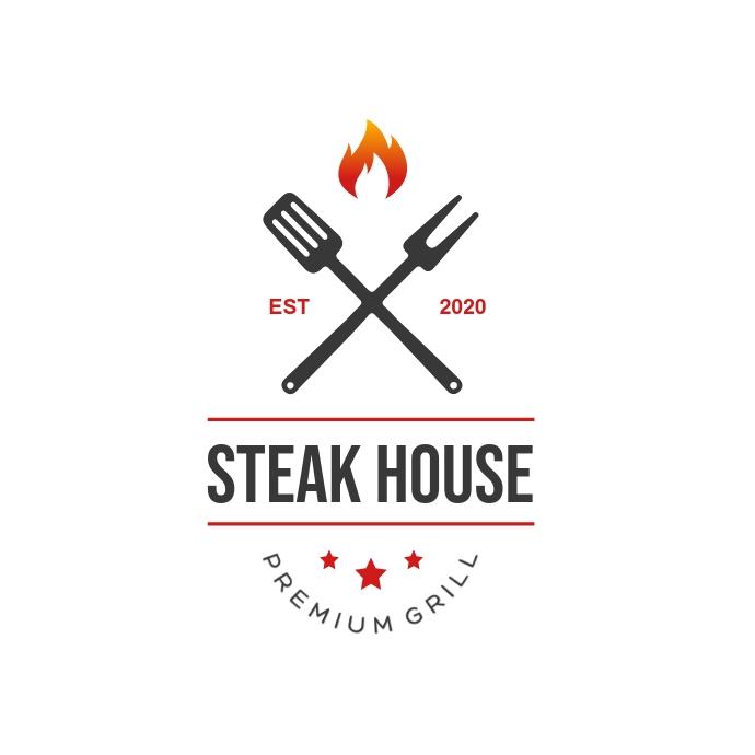 Bbq & Steakhouse Restaurant Logo template
