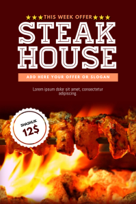 bbq barbecue steak grill business flyer template