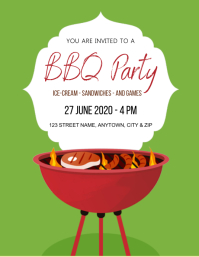 BBQ birthday party Design Template