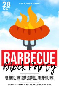 BBQ Block Party Poster template