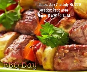 BBQ DAY Large Rectangle template