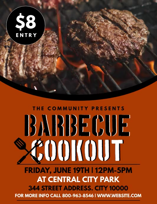 BBQ Flyer (US-Letter) template