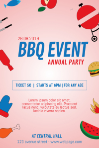 BBQ Event barbecue flyer template