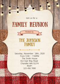 bbq family reunion party invitation