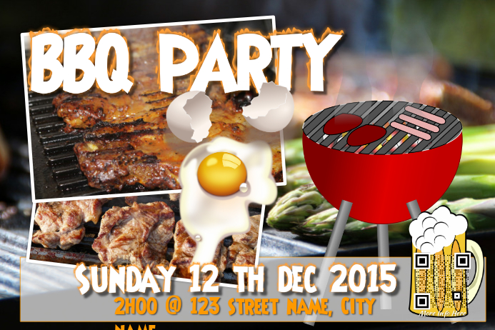 Customizable Design Templates For Bbq Party | Postermywall