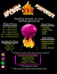 BBQ Fundraiser Flyer (US Letter) template