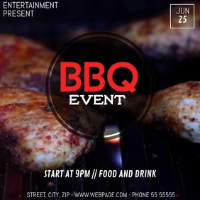 bbq grill video flyer template