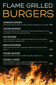 BBQ Grilled Food Menu Template