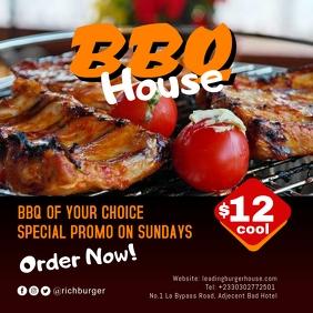 BBQ Hot Burger 2 Publicação no Instagram template