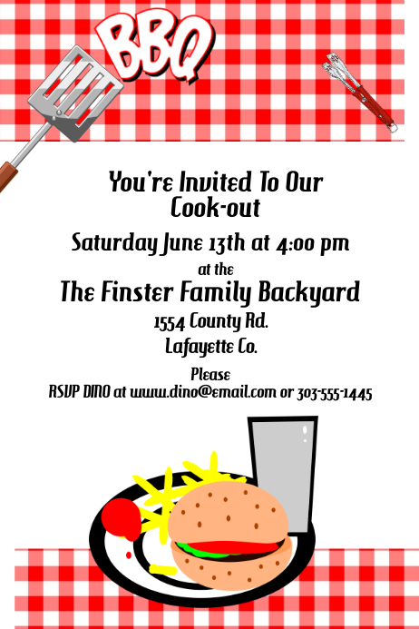 BBQ Invitation Template | PosterMyWall