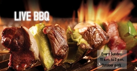 BBQ LIVE Facebook Ad template
