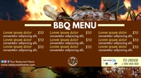BBQ menu Digital Display (16:9) template