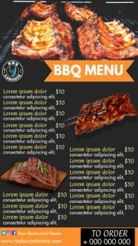 BBQ menu Digital Display (9:16) template
