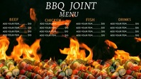 BBQ menu digital display template