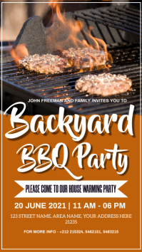 BBQ PARTY Instagram Story template