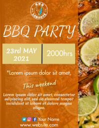 BBQ Party Flyer (US Letter) template