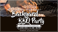 BBQ PARTY Digitale display (16:9) template