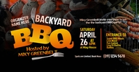 BBQ party Facebook Shared Image template