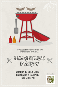 Barbecue party flyers template