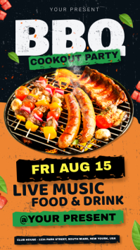 BBQ Party invitation История на Instagram template
