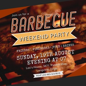 BBQ Party Invitation Video Ad Template
