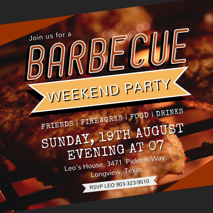BBQ Party Invitation Video Ad Template